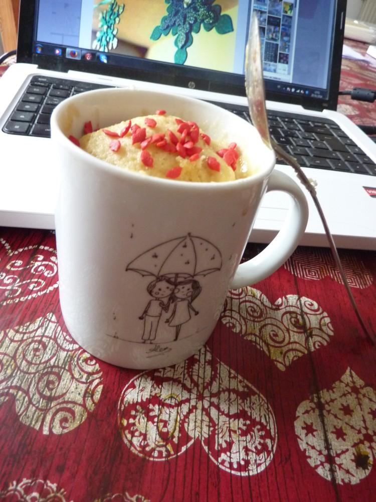 Mug Cake à la frangipane